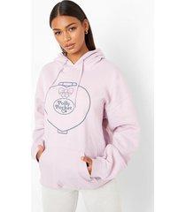 gelicenseerde oversized polly hoodie met zakken, lilac