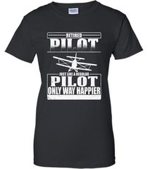 retired pilot just like a regular pilot t-shirt women