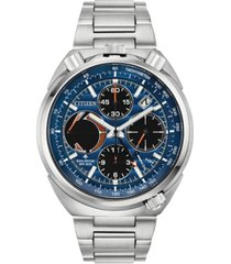 citizen eco-drive men's chronograph promaster tsuno racer stainless steel bracelet watch 45mm