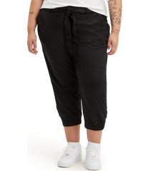 levi's trendy plus size belted jet set joggers