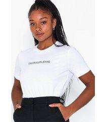 calvin klein jeans shrunken institutional logo tee t-shirts