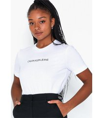 calvin klein jeans shrunken institutional logo tee t-shirts