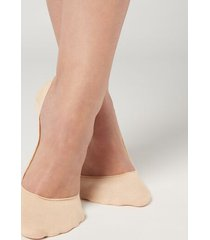 calzedonia invisible low cut socks woman ivory size 34-36