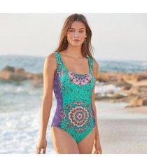 sundance catalog women's medallion pendant swimsuit xs