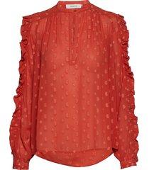 annie blouse lange mouwen rood munthe