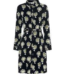 fabienne chapot hayley dress black & white green fowers