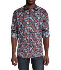 cape coral-print cotton sport shirt