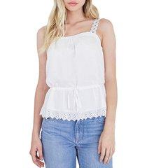 women's paige zherra cinched waist tank, size xx-small - white