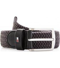 cinturón denton elastic 3.5 gris tommy hilfiger