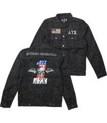 avenged sevenfold a7x adult mens music heavy metal band denim jacket 7a258