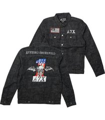 avenged sevenfold a7x adult mens music heavy metal band denim jacket 7a258