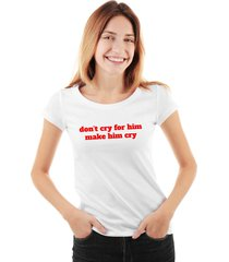 camiseta skull lab dont cry for him make him cry