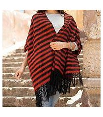 cotton rebozo shawl, 'volcanic diamonds' (mexico)