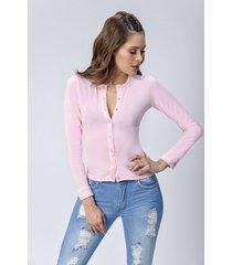 blusa dama rosado di bello jeans  classic blouse ref b209
