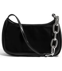 house of want newbie vegan leather shoulder bag - black