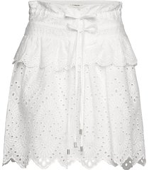 skirt knälång kjol vit sofie schnoor