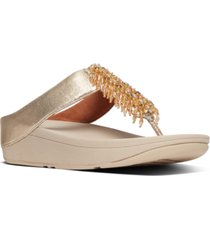 fitflop women's velma beaded toe-thongs sandal women's shoes