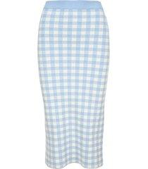 alessandra rich gingham-print midi skirt