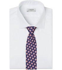 cravatta su misura, lanieri, roma seta blu, quattro stagioni | lanieri