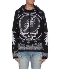 'grateful dead' graphic print cashmere hoodie