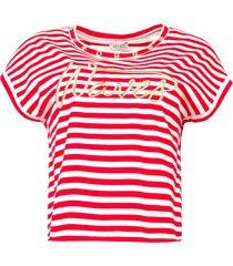 katoenen t-shirt met strepen lily  rood