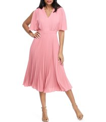 women's maggy london split sleeve pleated midi dress