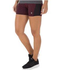 shorts asics workout stretch - feminino - vermelho