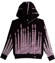 flag candle print pullover hoodie