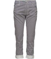 fancy stripe byxa med raka ben blå please jeans