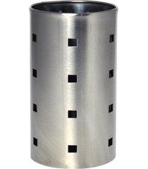 escorredor de talheres em inox porta utensilios 10x17cm - carisma - kanui