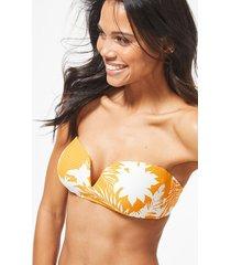 wild tropics bandeau bikini top