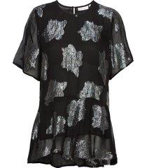 callumiw top blouses short-sleeved zwart inwear