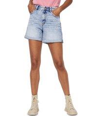 women's vero moda joana high waist acid shorts, size x-small - blue