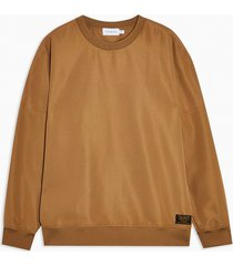 mens brown nylon classic sweatshirt