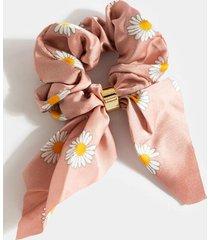 hana daisy pony scarf - mauve
