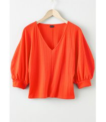 maglia con maniche a palloncino (rosso) - bodyflirt