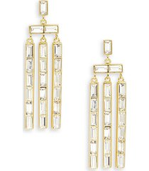 desi cubic zirconia chandelier earrings