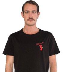 camiseta albedrío slim mamando gallo negro