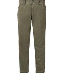 pantaloni chino elasticizzati slim fit (verde) - bpc bonprix collection