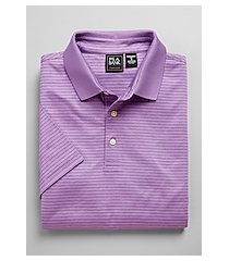 traveler collection traditional fit stripe short-sleeve men's polo shirt