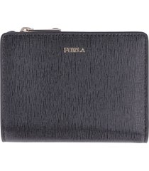 furla babylon leather zip-around wallet