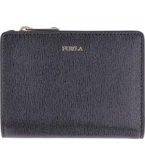 furla babylon leather zip-around wallet
