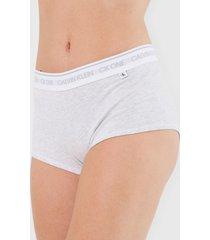 calcinha calvin klein underwear boyshort barcode cinza