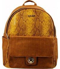 mochila amarillo lilas carteras
