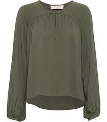 fatima blouse lange mouwen groen fall winter spring summer