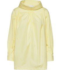 ls poplin over d drape collar shirt blouses short-sleeved gul 3.1 phillip lim