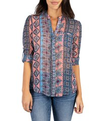 women's kut from the kloth jasmine top, size small - coral