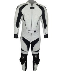 new mens black white color motorcycle leather suit leather jacket and pants
