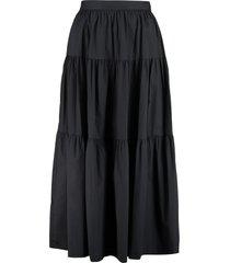 staud sea cotton ruffled skirt