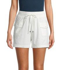 calvin klein women's tie waist shorts - soft white - size l
